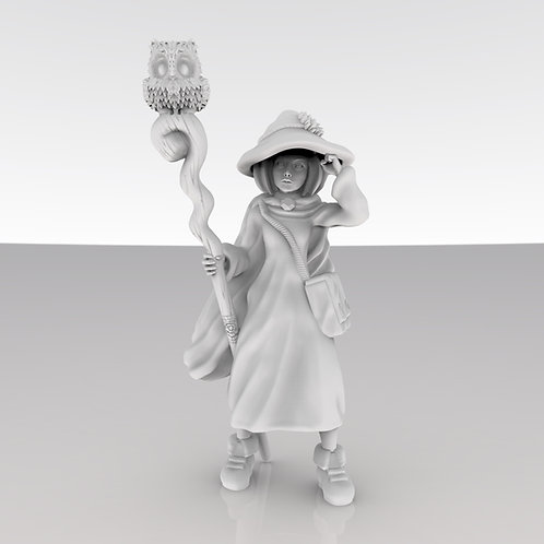 Druid Girl with Owl