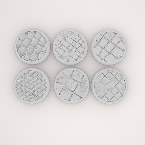 Stone Assortment Bases, 6 Pack