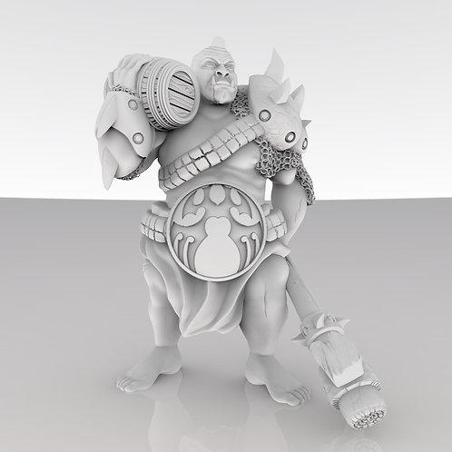 Ogre holding a Barrel