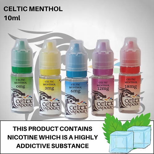 Celtic Menthol 10ml - Celtic Vapours