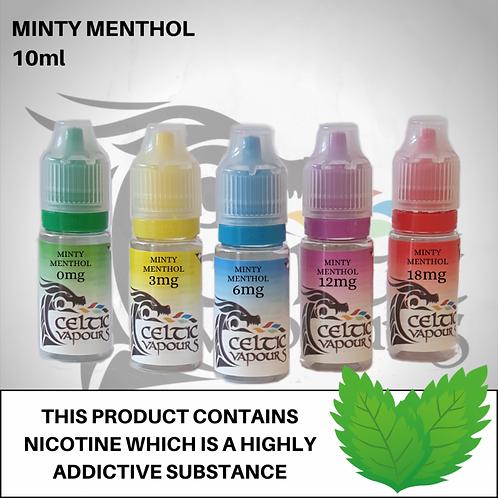 Minty Menthol 10ml - Celtic Vapours