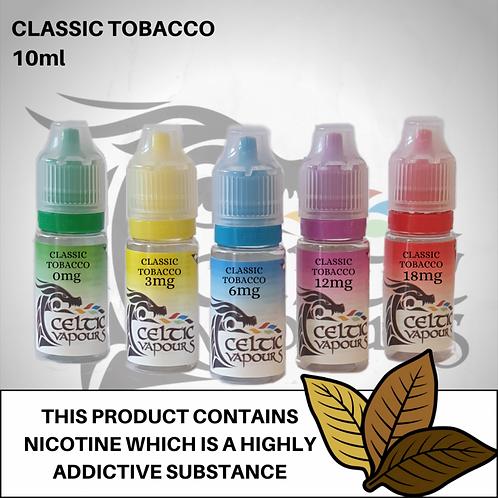 Classic Tobacco 10ml - Celtic Vapours