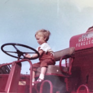 My dad tried to teach me to drive a combine harvester at a very young age!