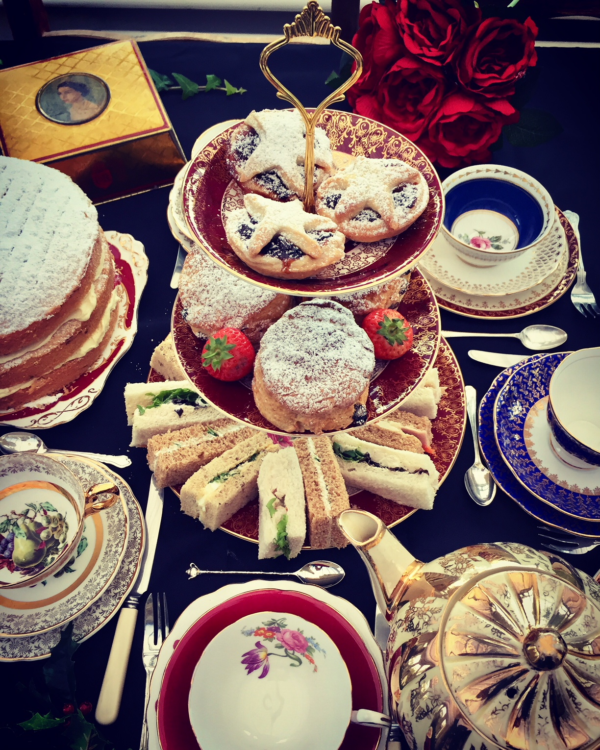 Festive Afternoon Tea and China