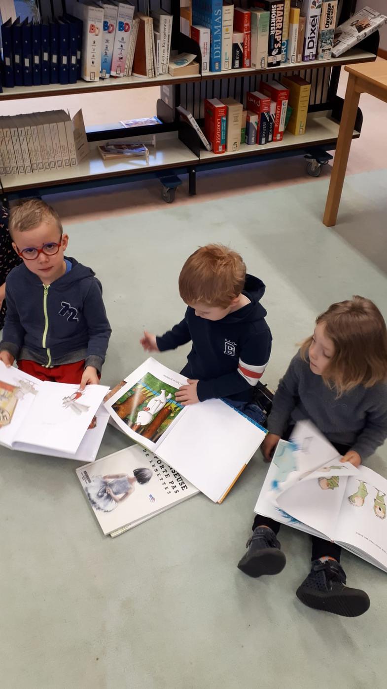 Visite de la bibliothèque le 13 décembre
