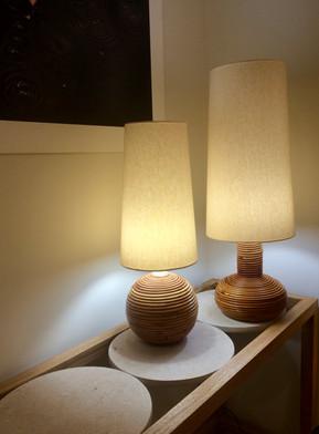 Lampes en rotin