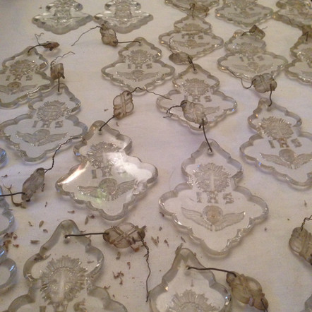 Pampilles gravées XIXème