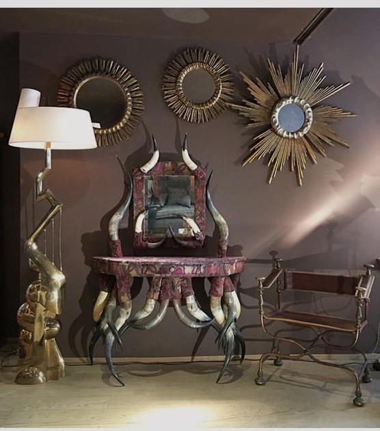 Lampadaire lyre Du sculpteur Jean Jacques Darbaud
