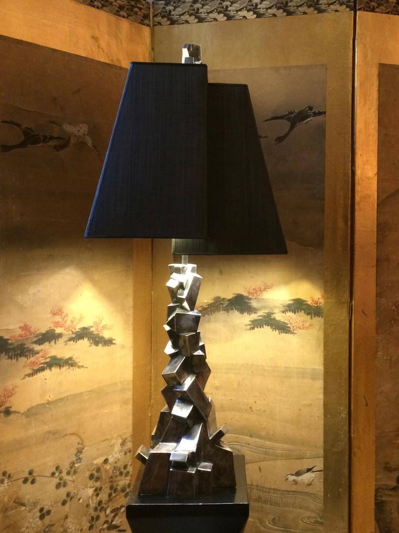 Lampe Chaos bronze argenté