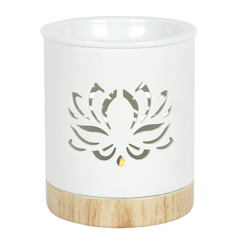 White Lotus Cut Out Tealight Wax Melter