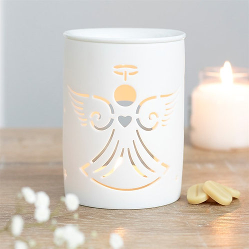 White Angel Cut Out Tealight Wax Melter