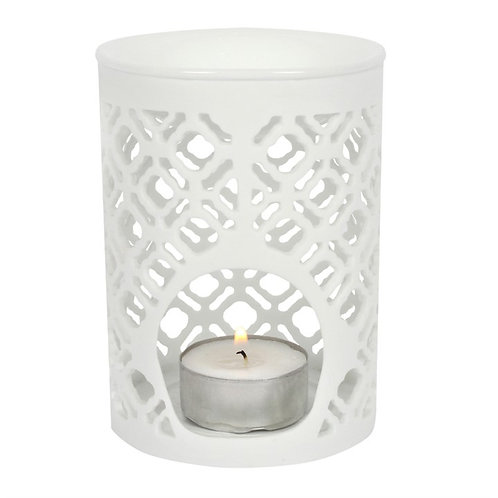 White Matte Lattice Cut Melter