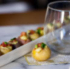 bacon cheddar and chive potato appetizer