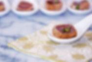 Ahi tuna brushed with soy sauce vinaigrette