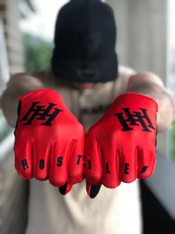 Strapless Red Gloves