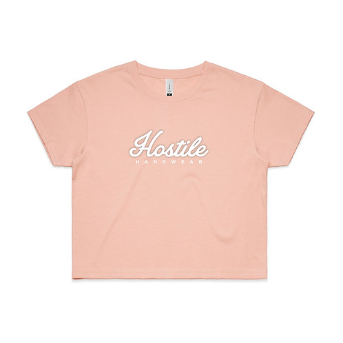 Woman's Crop Tee - Pale Pink