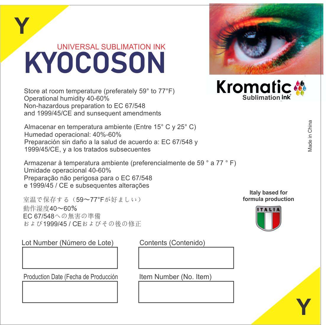 Etiqueta Tinta Kyocoson