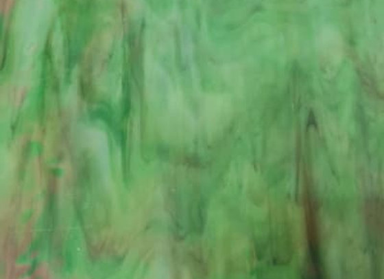 Stained Glass Sheet - Iridised  Green
