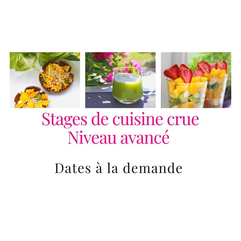 Stage de cuisine crue - Niveau Confirmé