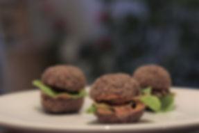 Rawfood hamburgers
