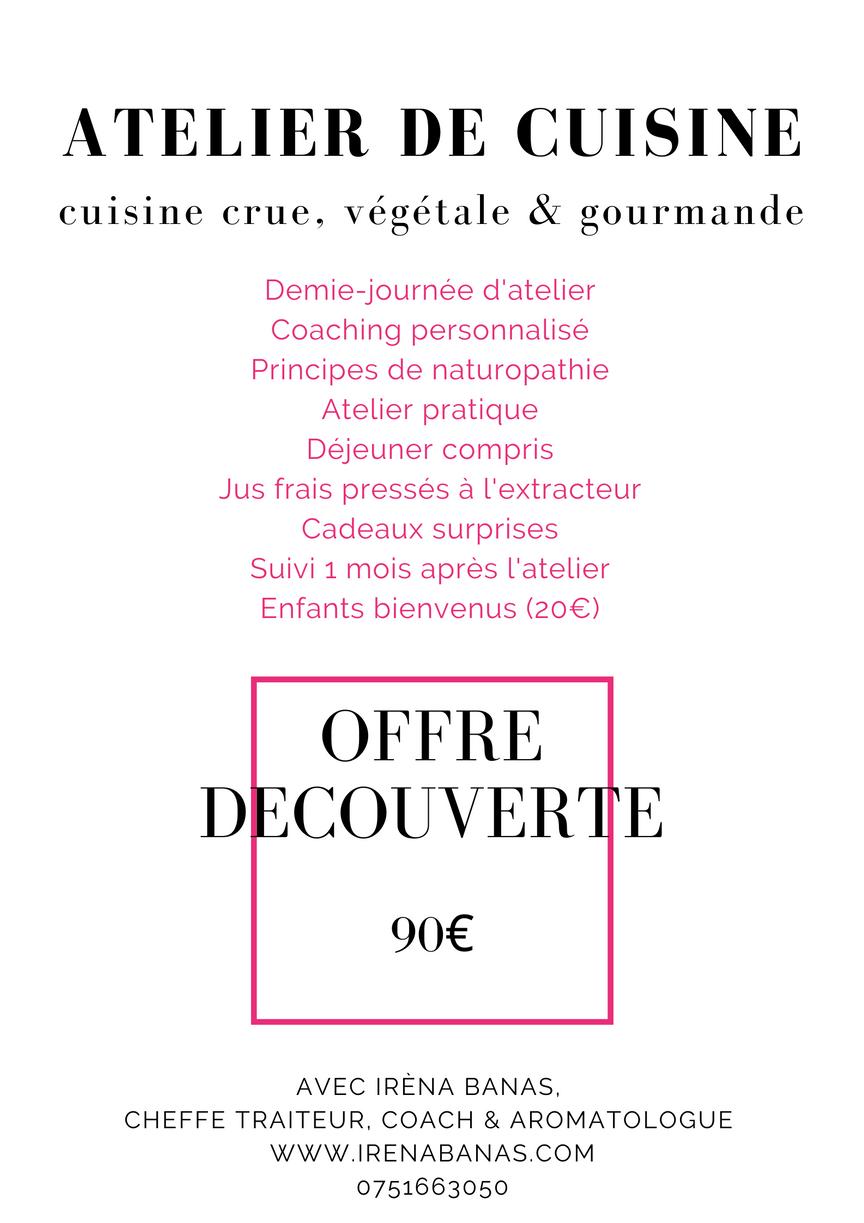 Ateliers de cuisine gourmande, offre découverte.png