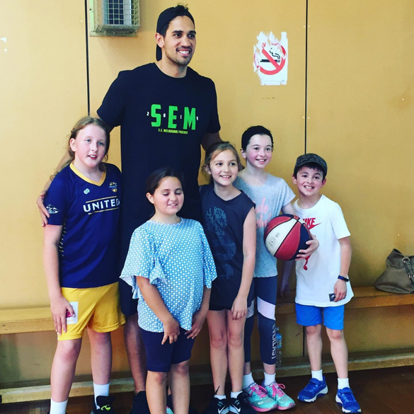 Training with NBL players