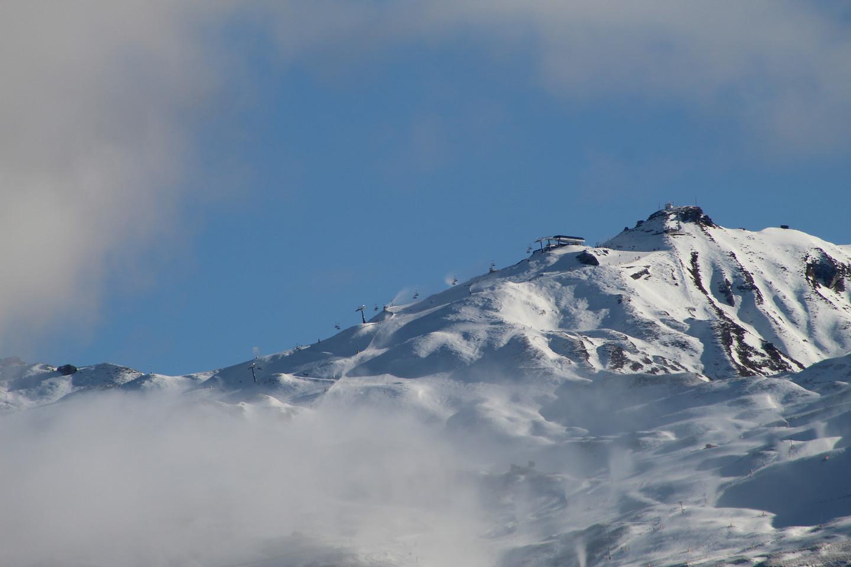 Winter clothes on Coronet Peak