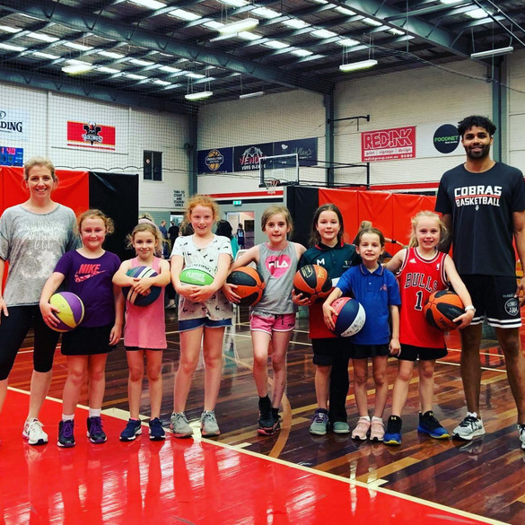 Training with NBL1 players
