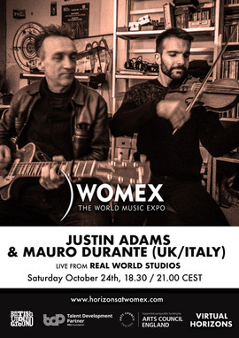 Justin Mauro and Justin Adams live from Real World Studios