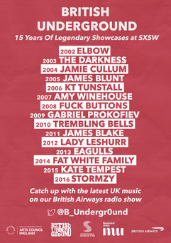 British Underground's 15 Years Of Legendary Showcases At SXSW Radio Show