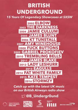 British Underground's 15 Years Of Legendary Showcases At SXSW Radio Show