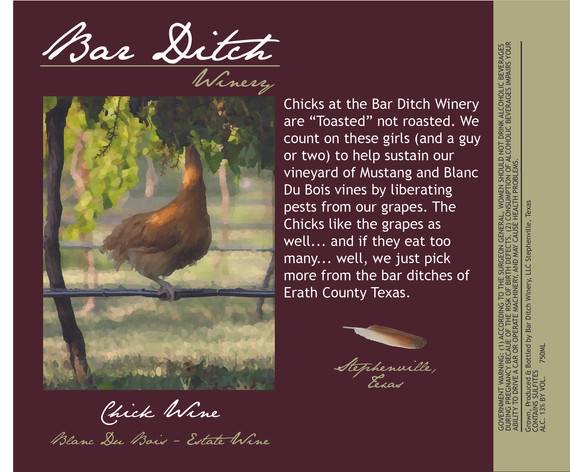 Bar Ditch Winery Label