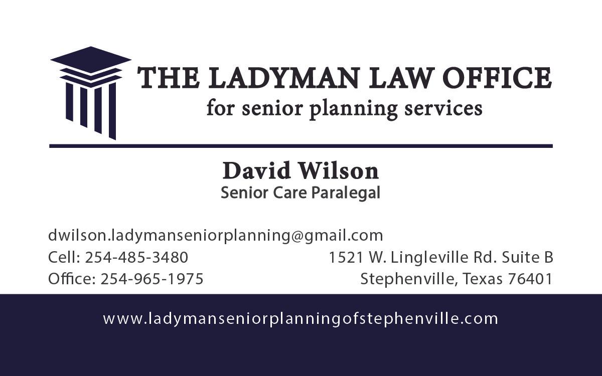 Ladyman Law Office Cards
