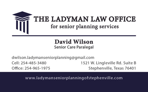 Ladyman Law Office Cards