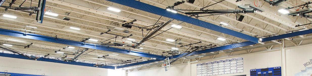 ESI ME Series Highbay LED Fixtures in Gymnasium