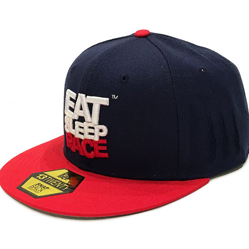 LOGO TEAM SNAPBACK HAT NAVY/RED