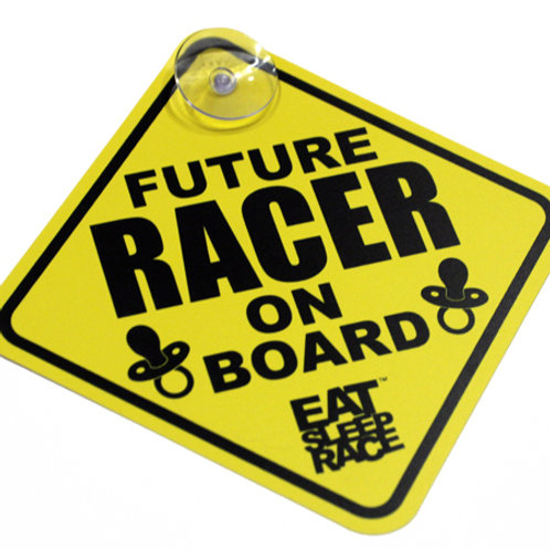 FUTURE RACER ON BOARD CAR SIGN