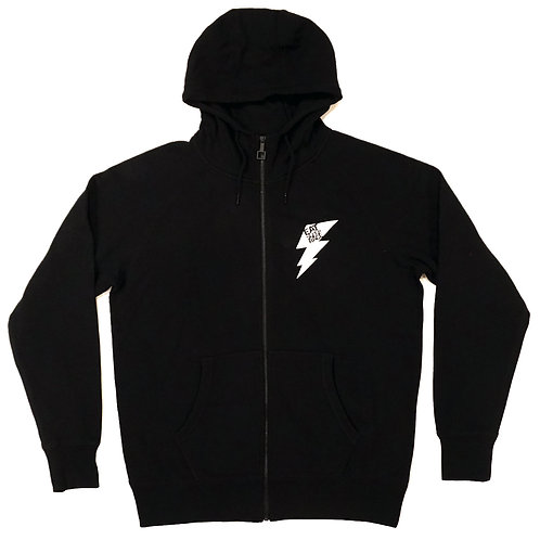 Zip Up Hoodie Bolt Emblem | Black