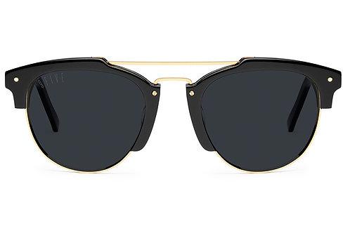 9five Del Rey Black & 24K Gold Shades