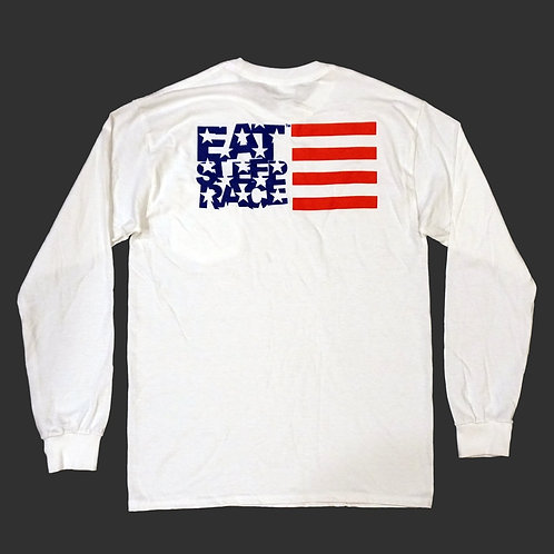 USA Pocket Long Sleeve Shirt | White