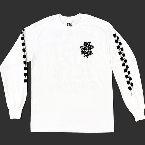 Drip Long Sleeve Shirt | White