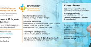 """Vanessa Lerner Ponente en: """"IV Jornada Internacional de Actualización en Comunicación Organizac"""