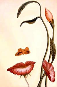 Imagen de Google | Rostro mujer y flores
