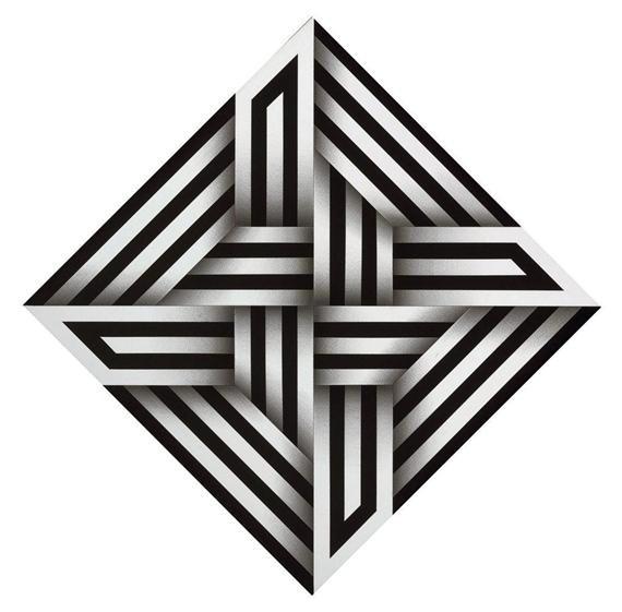 Omar Rayo Kumo XV Date: 1973 Style: Op Art Genre: abstract