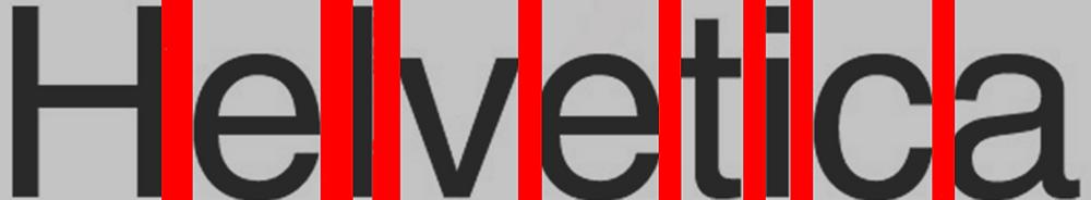 Helvetica Espacio entre letras