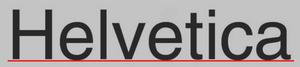 Helvetica Dirección