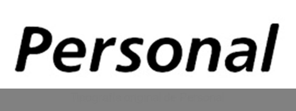 Tipografía original de Personal