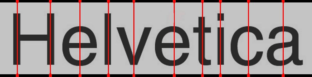 Helvetica Inclinación