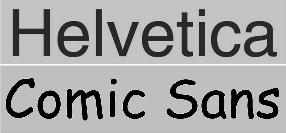 Helvetica vs Comic Sans | Análisis