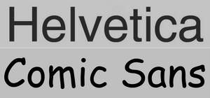 Helvetica vs Comic Sans   Análisis